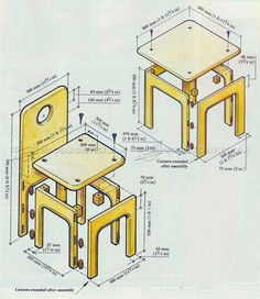 #2123 Kids Table and Chair Plans - Children's Furniture Plans
