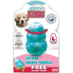 Kong Puppy Teething Dog Toy, Assorted Colors, Large - http://www.thepuppy.org/kong-puppy-teething-dog-toy-assorted-colors-large/