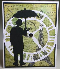 Tim Holtz man and clock