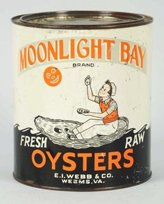 One-Gallon Moonlight Bay Oysters Tin.