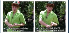 Reasons to love Peter Pan - Imgur HE'S SO CLEVER!!!