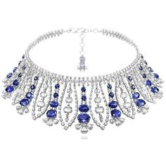 @chopard. #necklace #sapphire #diamonds