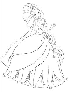 top 30 free printable princess and the frog coloring pages online malebger prinsesser og frer - Tiana Coloring Pages
