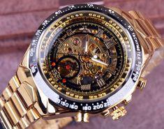 6fa298398a63 Reloj correa acero Winner dorado automatico Skeleton Nombre de la marca    Twinner Tipo de