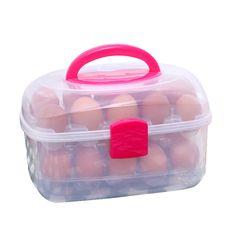 Eggs Storage Box Kitchen Accessories Organizer 2017 Double 30 Grids Egg Tools Fresh Decor Maquiagem Box Case Bin Basket Kitchen