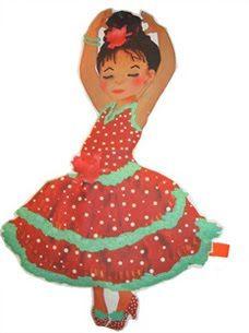 Dibujos De Muñecas Vestidas De Flamenca Buscar Con Google