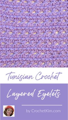 English Name: Tunisian Layered Eyelets Symbol Chart Level of Curling: Light to no curling. More information on the natural curling of Tunisian crochet. Special Stitches: Tunisian Reverse Stitch (trs): Insert hook in a side to Crochet Hooks, Free Crochet, Knit Crochet, Crochet Granny, Tunisian Crochet Patterns, Knitting Patterns, Crochet Crafts, Crochet Projects, Crochet Tutorials