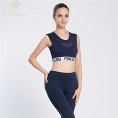 a5e00c660 Hello Anthena Womens Freedom Seamless Vented Tank Top All In One Padded Bra  Sexy Small Vest Sports Running Gym Yoga Fitness GURU-in Running Vests from  ...