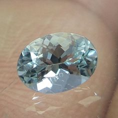 0.5 Cts Natural Aquamarine Green Blue 6.3x4.6 MM Oval Shape Loose Faceted Stone  #NAAZGEMS