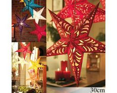 $4.45 Christmas Decorations Hung Ceiling Hang Decorations Lampshades with Star Design (30cm)