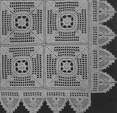 Meadow Daisy Bedspread crochet pattern originally published in Bedspreads, Spool Cotton Co. #85.