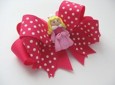 Sleeping Beauty Hair Bow - Everything Princesses, $14.99
