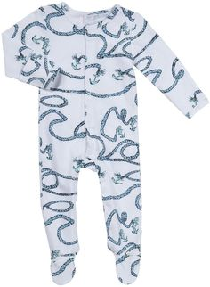 Rosie Pope Baby Anchors Away Footed Romper (Baby) - Pacific Blue-NB