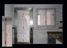 Cortinas on pinterest kitchen curtain sets tejidos - Estor visillo ...