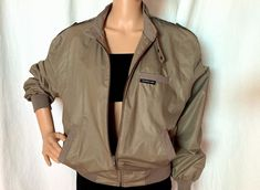 Excited to share this item from my #etsy shop: Sz 40 80s Vintage Members Only Jacket Khaki Med Men Large Women Unisex Sporty Menswear For Her 80s Preppy Streetwear Classic Casual Chic