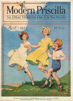 Modern Priscilla magazine, 1925 April cover painted by Flora Adele Nash