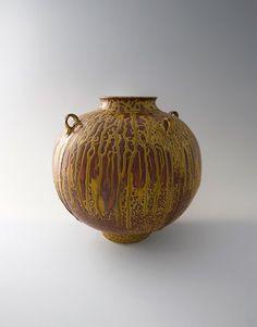 Brother Thomas, large vase with lugs, elm ash glaze, porcelain, 13 x 13 x John Ward, Pickle Jars, Raku Pottery, Modern Ceramics, Ceramic Decor, Tea Bowls, Fun At Work, Porcelain Ceramics, Vases