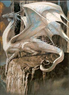 snow white dragon fantasy myth mythical mystical legend