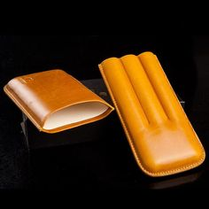 Material: LeatherColor: Yellow Brown NO HASSLE MONEY BACK GUARANTEE: We know you'll love our cigar case as much as we do, if for any reason you're not 100% SATI Leather Case, Soft Leather, Cigar Cases, Cigar Smoking, Yellow And Brown, Cigars, Money, Leather Pencil Case, Silver