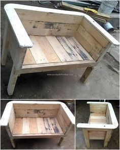 recycled wood pallet bench (Diy Wood Work Bench)