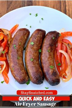 Quick And Easy Air Fryer Sausage Is The Best Recipe For How To Cook Italian Sausage In The