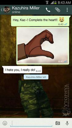 Kaz and Ocelot's WhatsApp conversation
