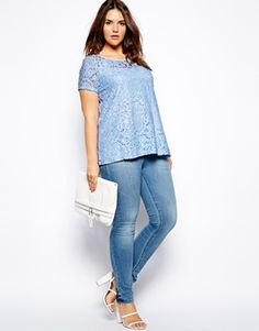 Truly You Lace Short Sleeve Top