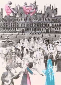 World Tour: Paris, Dancing Silkscreen Print by Sir Peter Blake Beatles Albums, An American In Paris, Peter Blake, Architectural Prints, Flamenco Dancers, English Artists, Royal College Of Art, Lonely Heart, London Art