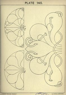 """""""Cusack's freehand ornament by Charles Armstrong"""" – 189 fotos Art Nouveau Pattern, Art Nouveau Design, Pattern Art, Pattern Design, Paper Embroidery, Hand Embroidery Patterns, Embroidery Designs, Tattoo Painting, Ornament Drawing"""