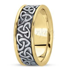 Gorgeous 8mm Wide Celtic Knot Wedding Band. Available in 14K Gold, 18K Gold & Platinum. / Style Number : HC100222