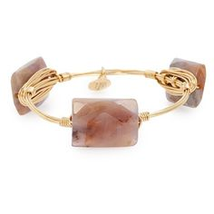 Bourbon and Boweties Rectangular Stone Bracelet ($38) ❤ liked on Polyvore featuring jewelry, bracelets, purple, bangle jewelry, hinged bangle, stone jewelry, hinged bracelet and studded jewelry