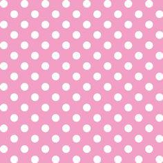 Patrón de lunares con fondo rosa