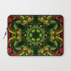Laptop sleeve | Pepper mandala, 13 inch, 15 inch, farmer's market, autumn harvest, local farm produce, color photography gift for gardener by RVJamesDesigns on Etsy