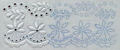 Cutwork embroidery pattern, Folyondár, félvirág    #cutworkembroidery #whitework #needleworkguide