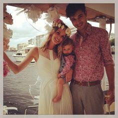 Francisco Lachowski and Jessiann Gravel Wedding with baby Milo Lachowski