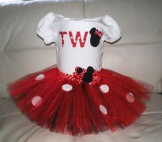 Mini Mouse Outfit Birthday Tutu Set by BittysBabyCreations on Etsy
