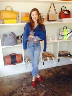 The cutest Clare V shop gal around! Hop on over to Clare's blog to find out more about this sweet lady!