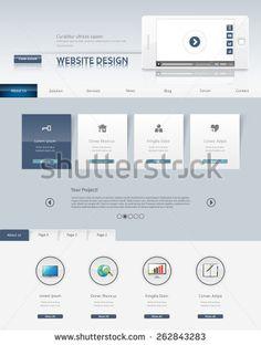 Business Professional Website Template Design Eps 10, Vector illustration.
