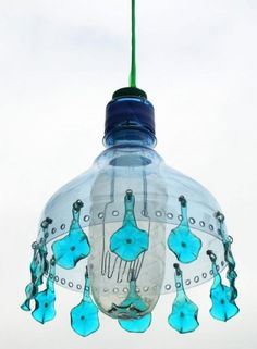 Lamp from recycled plastic bottles, the Czech Veronika Richterová.  (Photo Veronika Richterová)