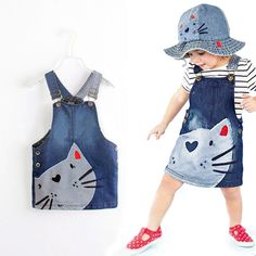 Summer Toddler Baby Girls Denim Dress Jeans Kid Overall Dress Clothes Size in Clothing, Shoes Accessories, Baby Toddler Clothing, Girls Clothing Denim Fashion, Kids Fashion, Dress Fashion, Fashion 2016, Fashion Clothes, Fashion Boots, Latest Fashion, Jean Overall Dress, Jeans Overall