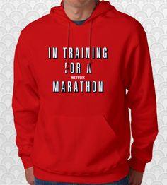 In Training for a Netflix Marathon Hoodie by FishbiscuitDesigns, $29.95