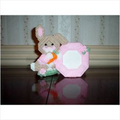 Pink Rabbit Picture Frame for the Nursery on eBid United States
