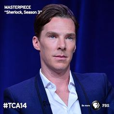 """I love it, I find it very invigorating."" - Benedict Cumberbatch on playing Sherlock. The series was ALL the buzz in Pasadena during the MASTERPIECE TCA panel. See more photos!"