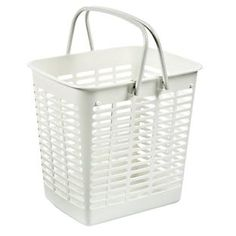Handled Shopping Tote I have one of these in my laundry room for dirty cleaning cloths.  I love it!
