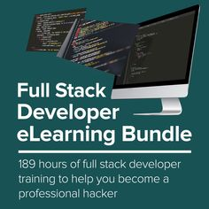 A Full Stack Web Developer is someone who is able to work on both the front end and back end portions of an app.Front end refers to the portion of an application the user will interact with, and the back end is the part of the app that handle. Python Web, Object Oriented Programming, Windows Software, Python Programming, World Problems, New Career, Level Up, Master Class, Web Development