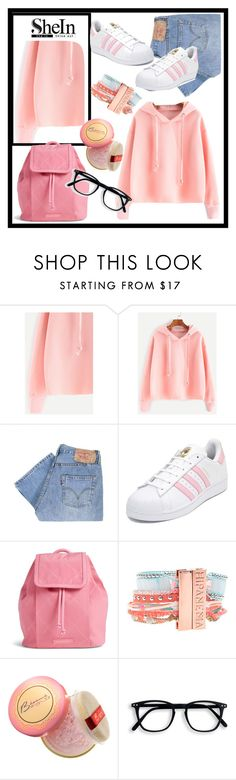 """""""SheIn"""" by aazraa ❤ liked on Polyvore featuring Levi's, adidas, Vera Bradley, Hipanema and Bésame"""