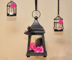 Original decoración para una fiesta rosa y negro / Original decoration for a pink and black glamour party