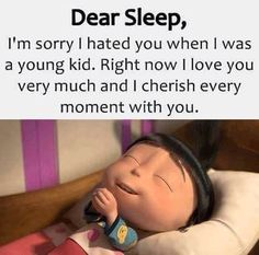 Pls sleep be my valentine. Funny True Quotes, Jokes Quotes, Funny Relatable Memes, Funny Facts, Funny Minion Memes, Funny School Jokes, Very Funny Jokes, Hilarious, Cute Images With Quotes