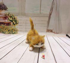 Needle felt - Needle felted cat - Needle felting cat - Handmade cat - Great gift…