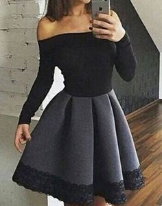 Unique gray short prom dress for teens, cute homecoming dress, women fashion dress 2017